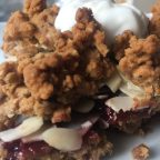 strawberry granola crumble