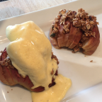 baked appled filled with granola